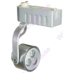 LED Track Light - 3W, Silver Casing