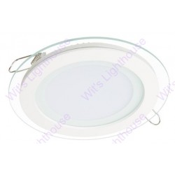 LED Glass Downlight - 12W, Round, Recessed