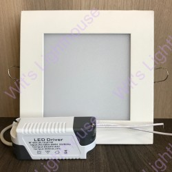 LED Downlight - 12W, Square, Recessed