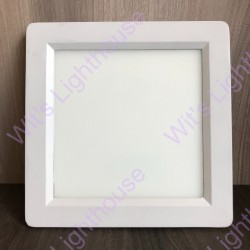 LED Downlight - 18W, Square, Recessed, Warm White