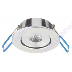 LED Downlight - 1W, Round, Recessed