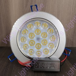 LED Downlight - 18W, Round, Recessed