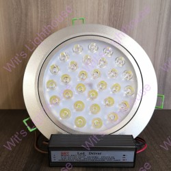LED Downlight - 30W, Round, Recessed, Daylight (6000K)