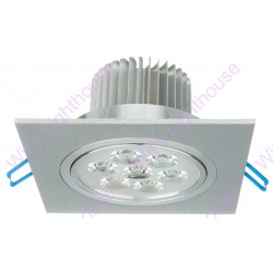 LED Downlight - 7W, Square, Recessed