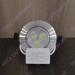 LED Downlight - 3W, Frosted Shade, Round, Recessed
